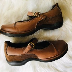 DANSKO Brown Suede Leather Mary Jane Shoes 7 EUC
